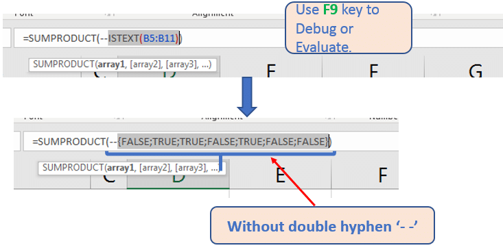 F9 Return boolean value (TRUE & FALSE)