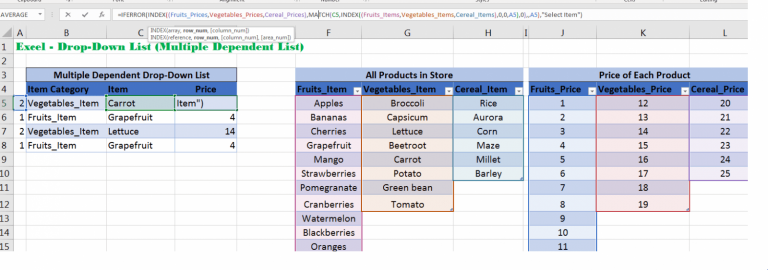 Excel INDEX and MATCH function together returns the value of specific position
