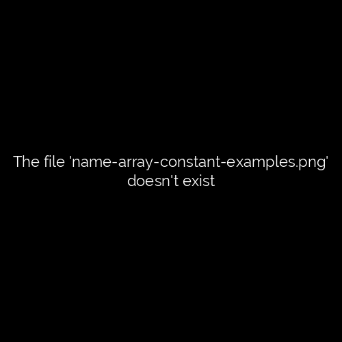 Display Names using Array Constant Excel