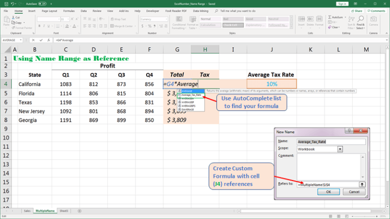 Create custom your formula cell reference Excel