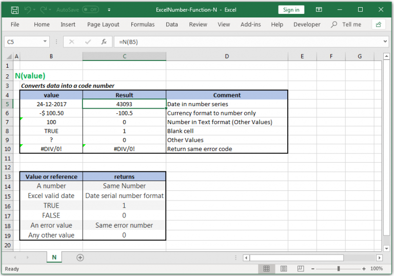 Converts data into a code number in Excel