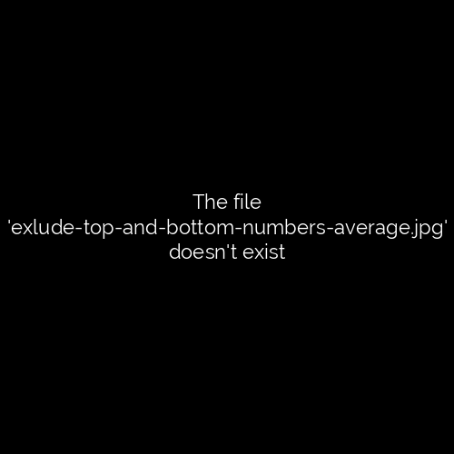 Exlude top and bottom numbers average