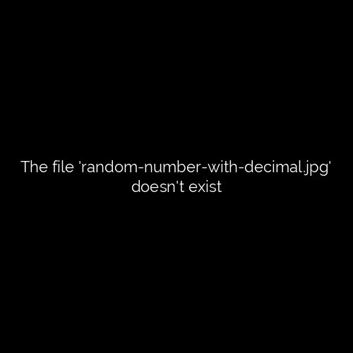 It show Random numbers with decimal.